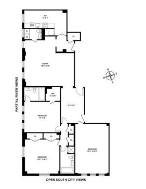 floorplan for 221 West 82nd Street #12F
