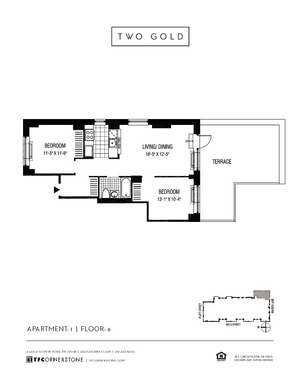 floorplan for 2 Gold Street #601