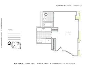 floorplan for 75 West Street #10G