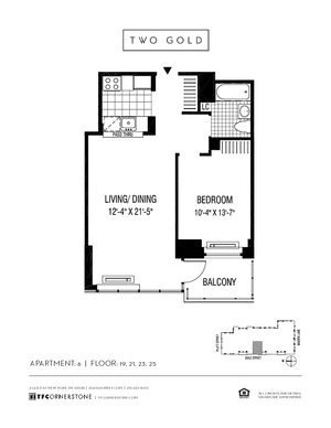 floorplan for 2 Gold Street #2506