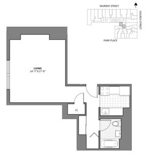 floorplan for 50 Murray Street #A4