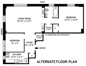 floorplan for 210 Riverside Drive #3C