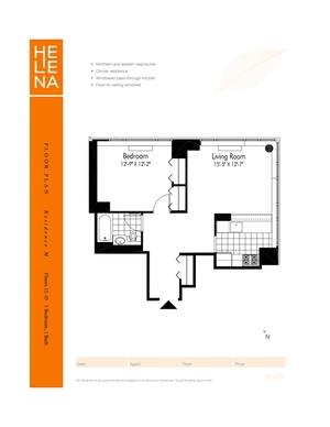 floorplan for 601 W 57th Street #24M