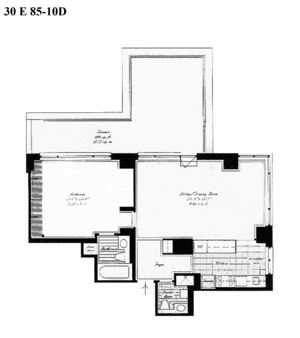 floorplan for 30 East 85th Street #10D
