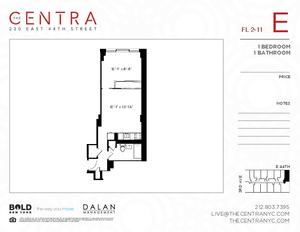floorplan for 230 East 44th Street #9E