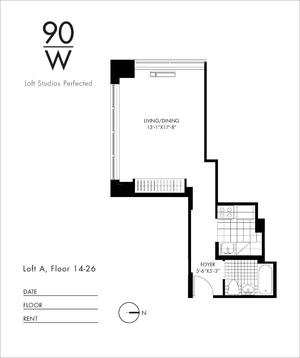 floorplan for 90 Washington Street #24A