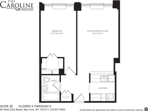 floorplan for 60 West 23rd Street #528
