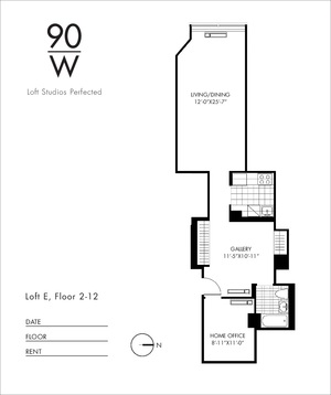 floorplan for 90 Washington Street #9E