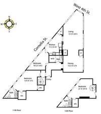 floorplan for 2 Cornelia Street #1102