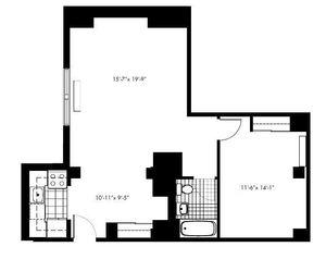 floorplan for 50 Murray Street #022