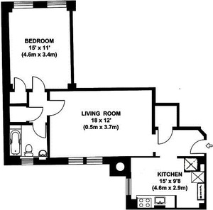 floorplan for 15 West 11th Street #6A
