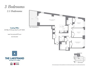 floorplan for 227 West 77th Street #18D