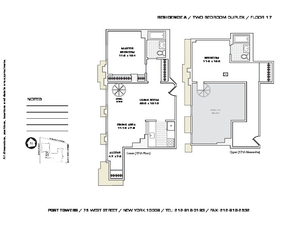 floorplan for 75 West Street #17A