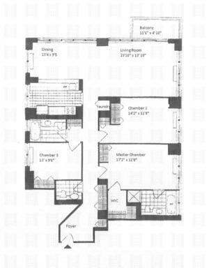 floorplan for 422 East 72nd Street #36A