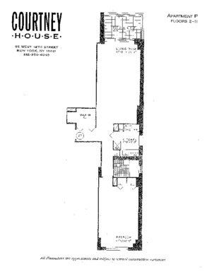 floorplan for 55 West 14th Street #3P