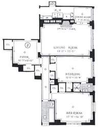 floorplan for 235 East 22nd Street #16J