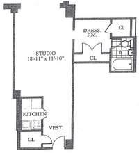 floorplan for 30 Park Avenue #16P