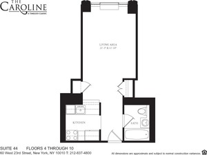 floorplan for 60 West 23rd Street #544