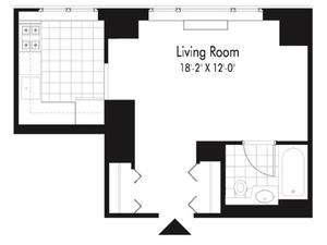 floorplan for 601 West 57th Street #12D