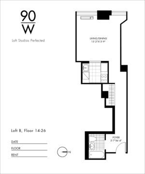 floorplan for 90 Washington Street #17B