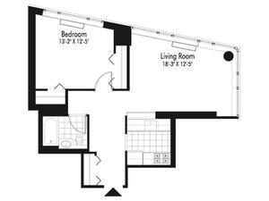 floorplan for 601 West 57th Street #32C