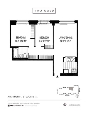 floorplan for 2 Gold Street #2014