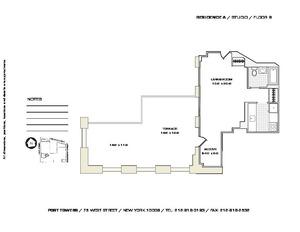 floorplan for 75 West Street #8A