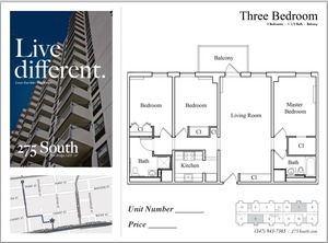 floorplan for 275 South Street #J12