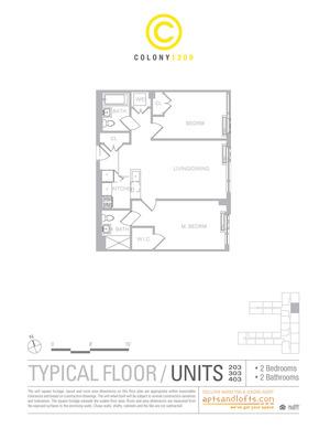 floorplan for 1209 Dekalb Avenue #2403
