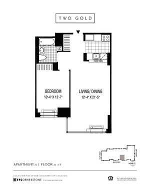 floorplan for 2 Gold Street #1005
