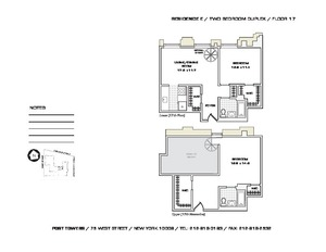floorplan for 75 West Street #17E