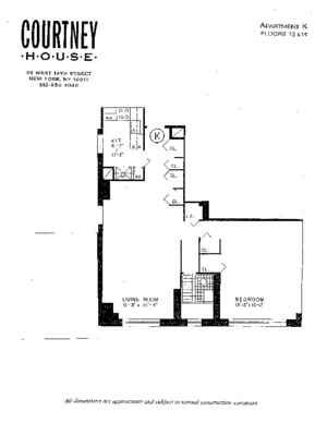 floorplan for 55 West 14th Street #12K