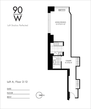 floorplan for 90 Washington Street #6A