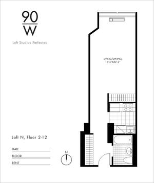 floorplan for 90 Washington Street #11N