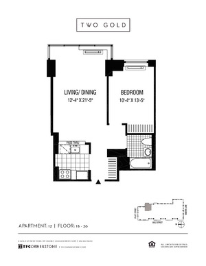 floorplan for 2 Gold Street #1812