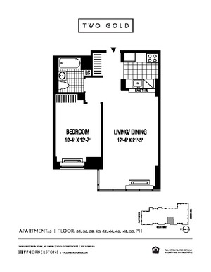 floorplan for 2 Gold Street #PH5