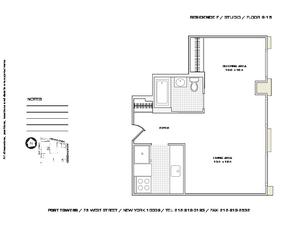 floorplan for 75 West Street #15F