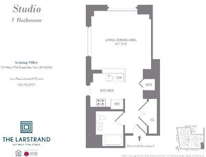 floorplan for 227 West 77th Street #7C