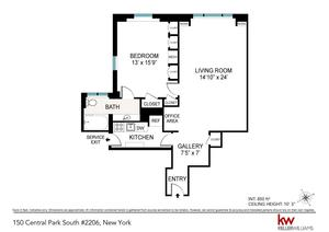 floorplan for 150 Central Park South #2206
