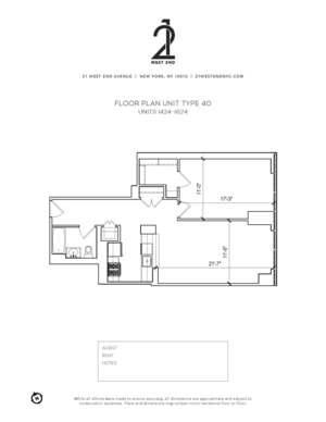 floorplan for 21 West End Avenue #1624
