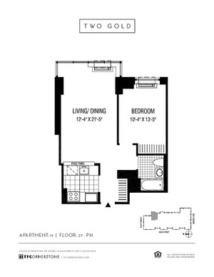 floorplan for 2 Gold Street #4211