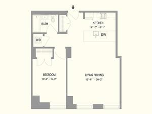 floorplan for 55 West 17th Street #602