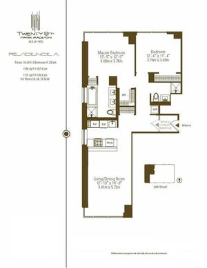 floorplan for 39 East 29th Street #30A