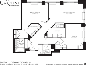 floorplan for 60 West 23rd Street #438