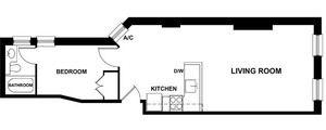floorplan for 303 East 81st Street #3FE