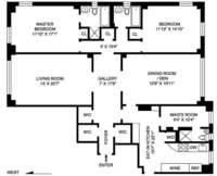 floorplan for 221 West 82nd Street