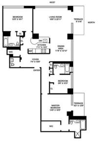 floorplan for 422 East 72nd Street #34E