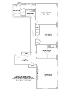 floorplan for 205 West 89th Street #4F