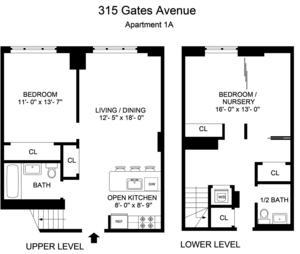 floorplan for 315 Gates Avenue #1A