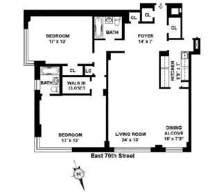 floorplan for 715 Park Avenue #5D